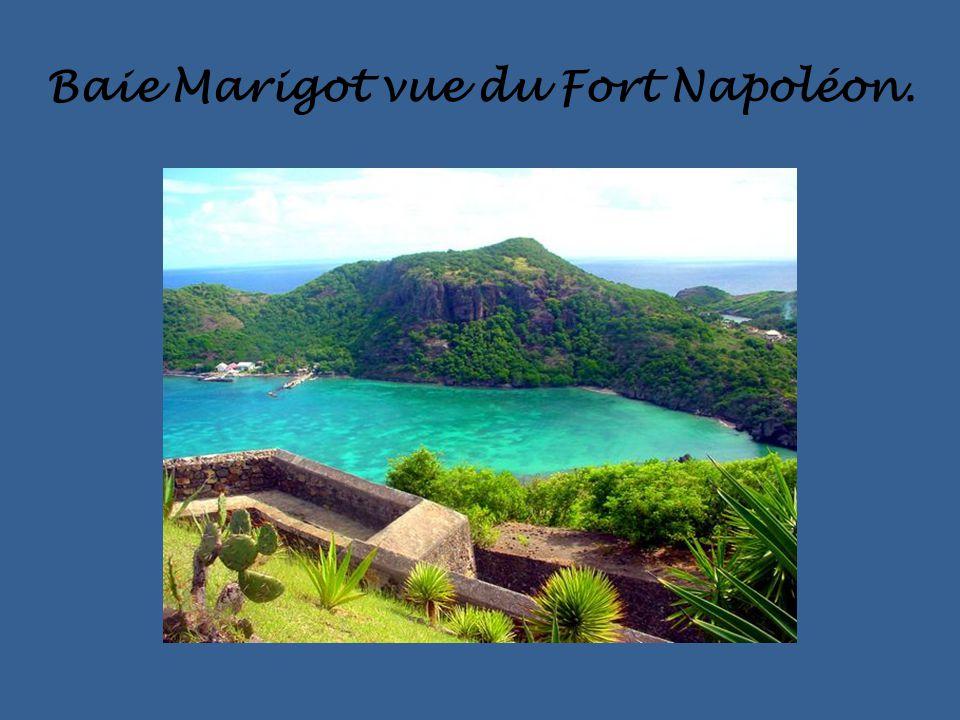 Baie Marigot vue du Fort Napoléon.