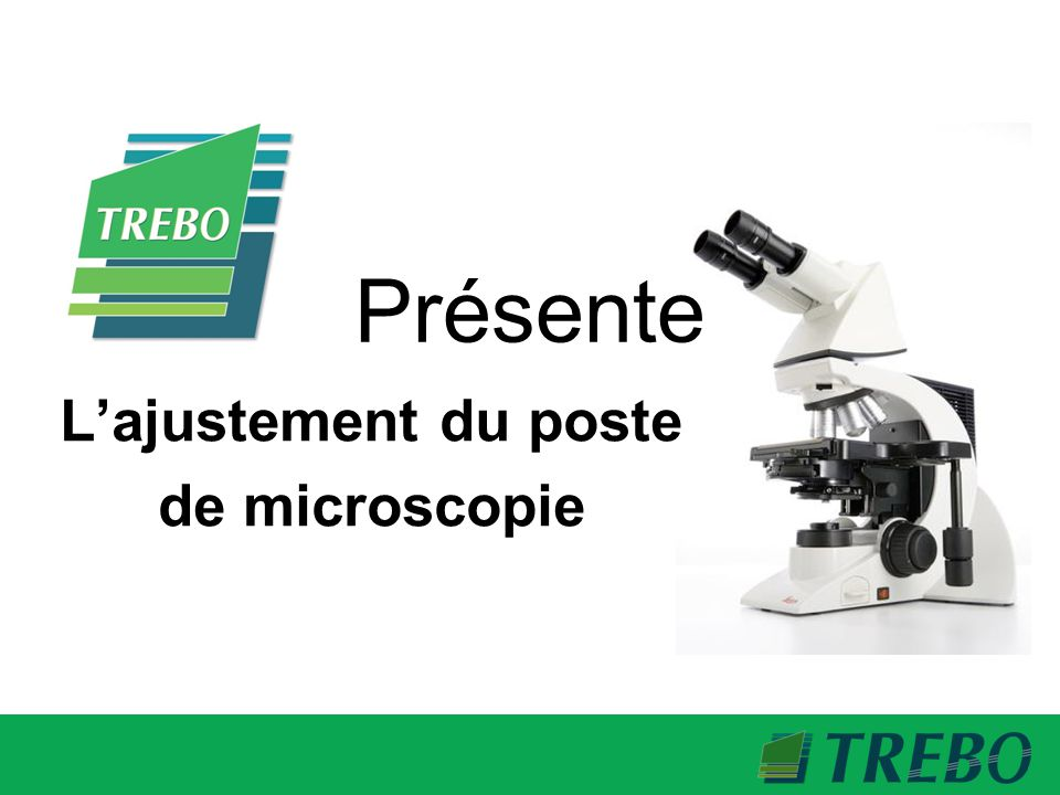 L'ajustement du poste de microscopie