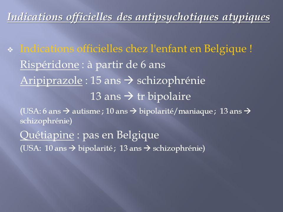 Indications officielles des antipsychotiques atypiques