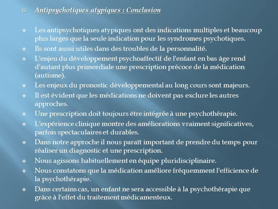 Antipsychotiques atypiques : Conclusion