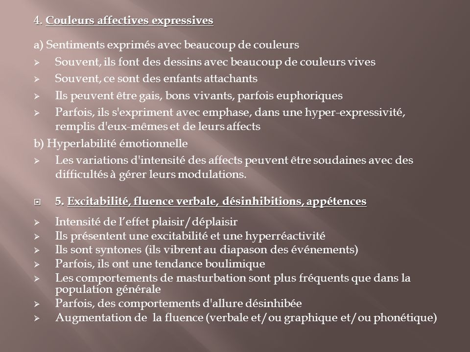 4. Couleurs affectives expressives