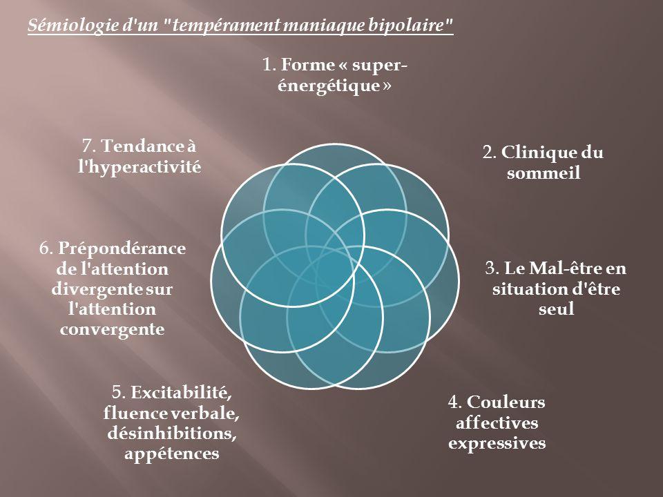 Sémiologie d un tempérament maniaque bipolaire