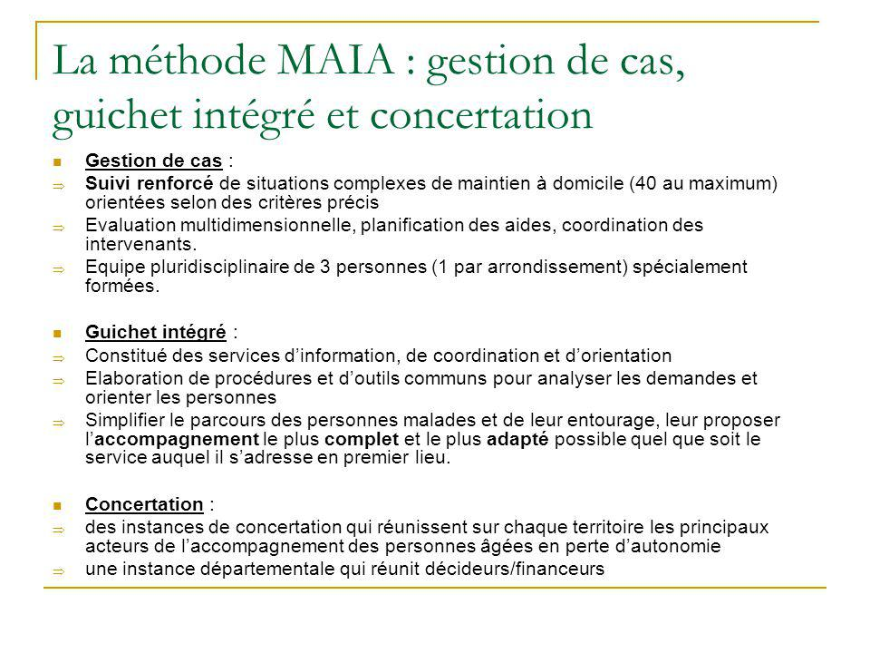 La méthode MAIA : gestion de cas, guichet intégré et concertation