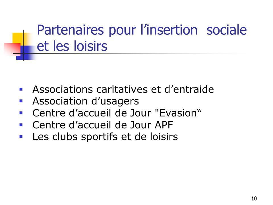 Partenaires pour l'insertion sociale et les loisirs