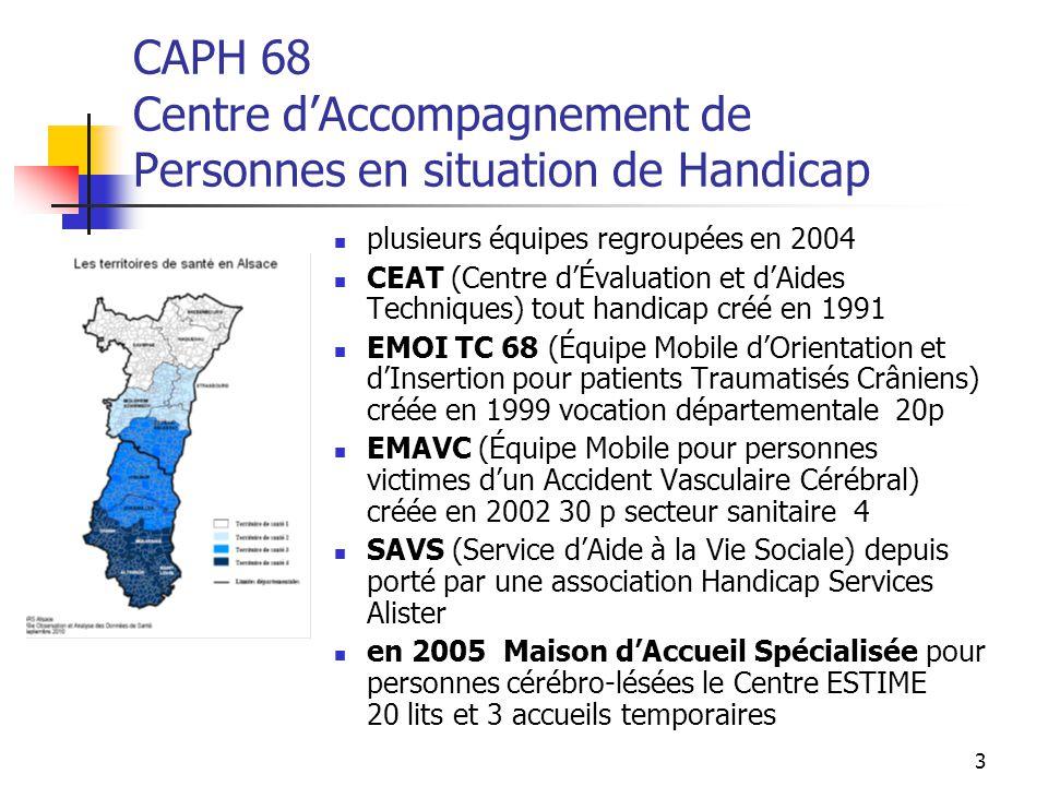 CAPH 68 Centre d'Accompagnement de Personnes en situation de Handicap