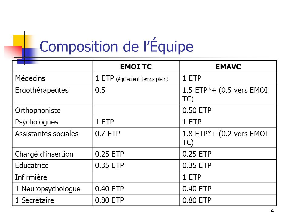 Composition de l'Équipe