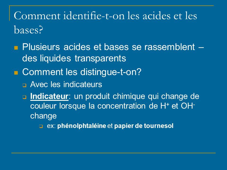 Comment identifie-t-on les acides et les bases