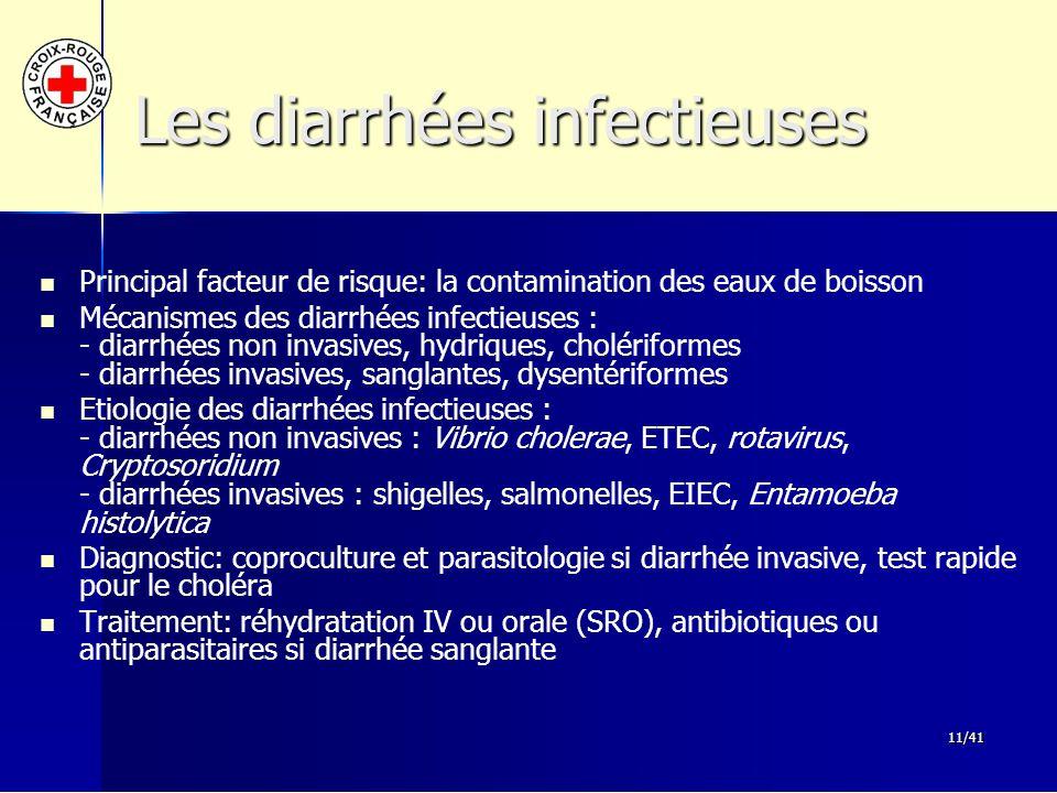 Les diarrhées infectieuses
