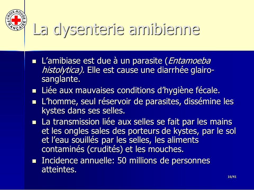 La dysenterie amibienne