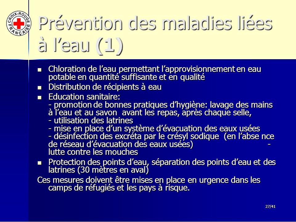 Prévention des maladies liées à l'eau (1)