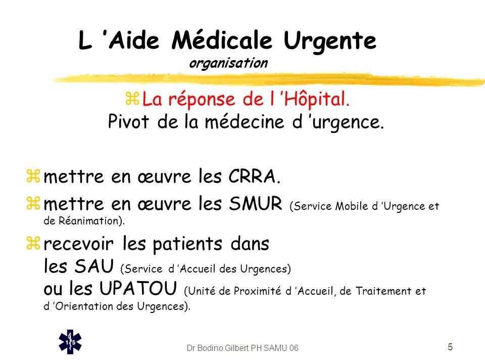 L 'Aide Médicale Urgente organisation