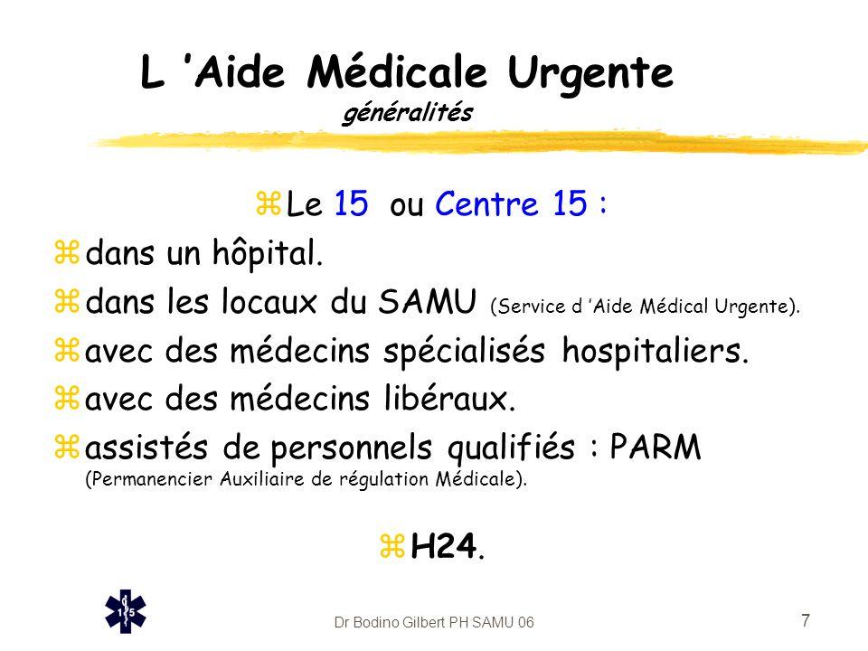 L 'Aide Médicale Urgente généralités