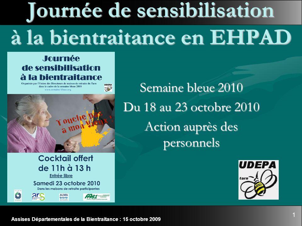 Journée de sensibilisation à la bientraitance en EHPAD