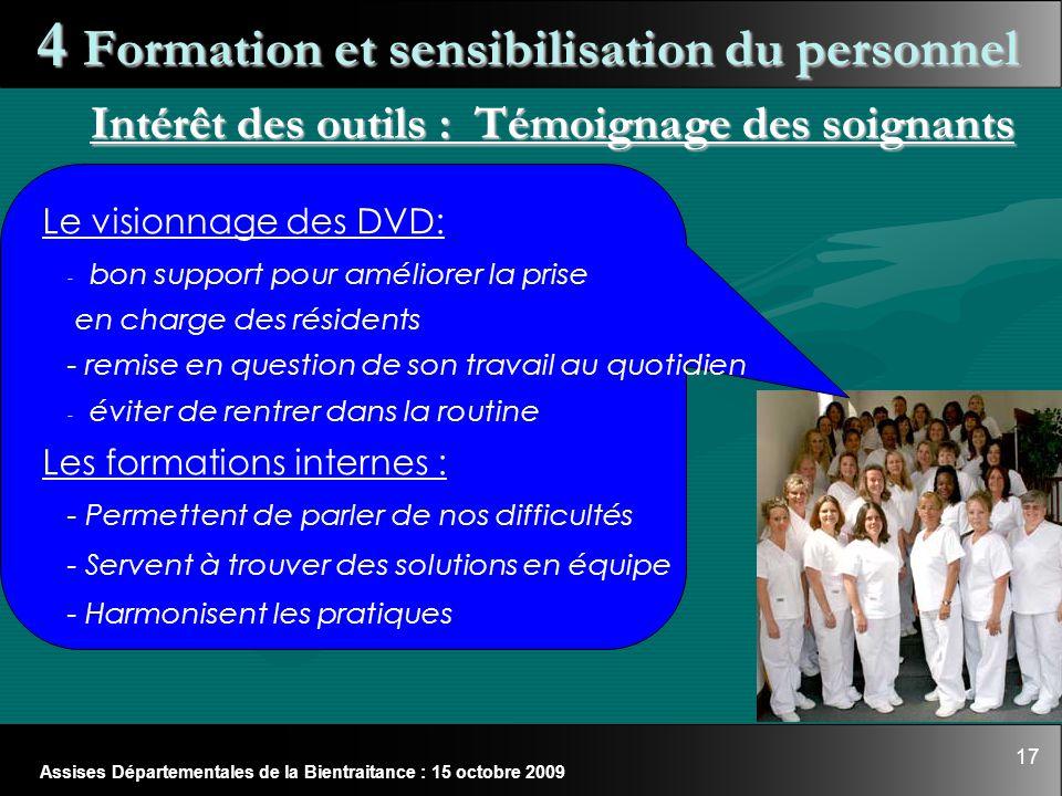 4 Formation et sensibilisation du personnel