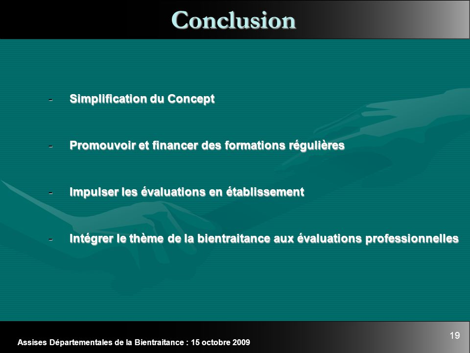 Conclusion Simplification du Concept