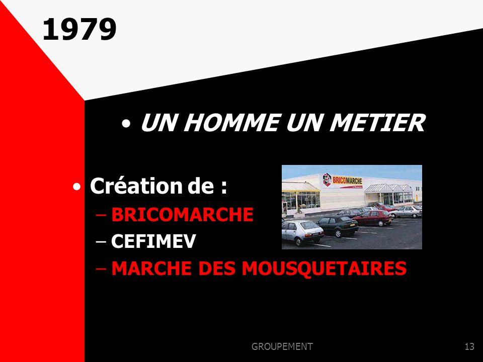 1979 UN HOMME UN METIER Création de : BRICOMARCHE CEFIMEV