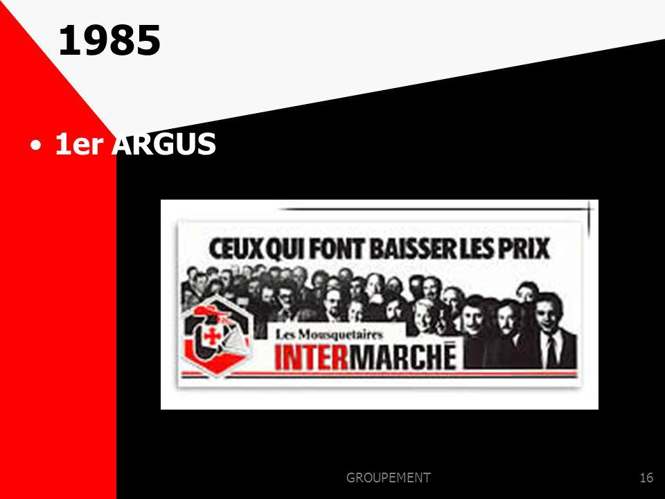 1985 1er ARGUS GROUPEMENT