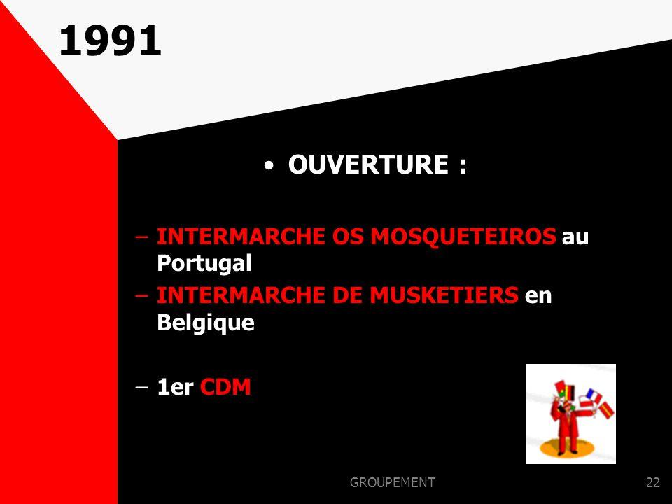 1991 OUVERTURE : INTERMARCHE OS MOSQUETEIROS au Portugal
