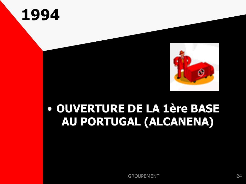 OUVERTURE DE LA 1ère BASE AU PORTUGAL (ALCANENA)