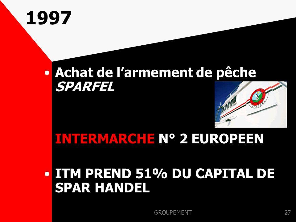 1997 Achat de l'armement de pêche SPARFEL INTERMARCHE N° 2 EUROPEEN