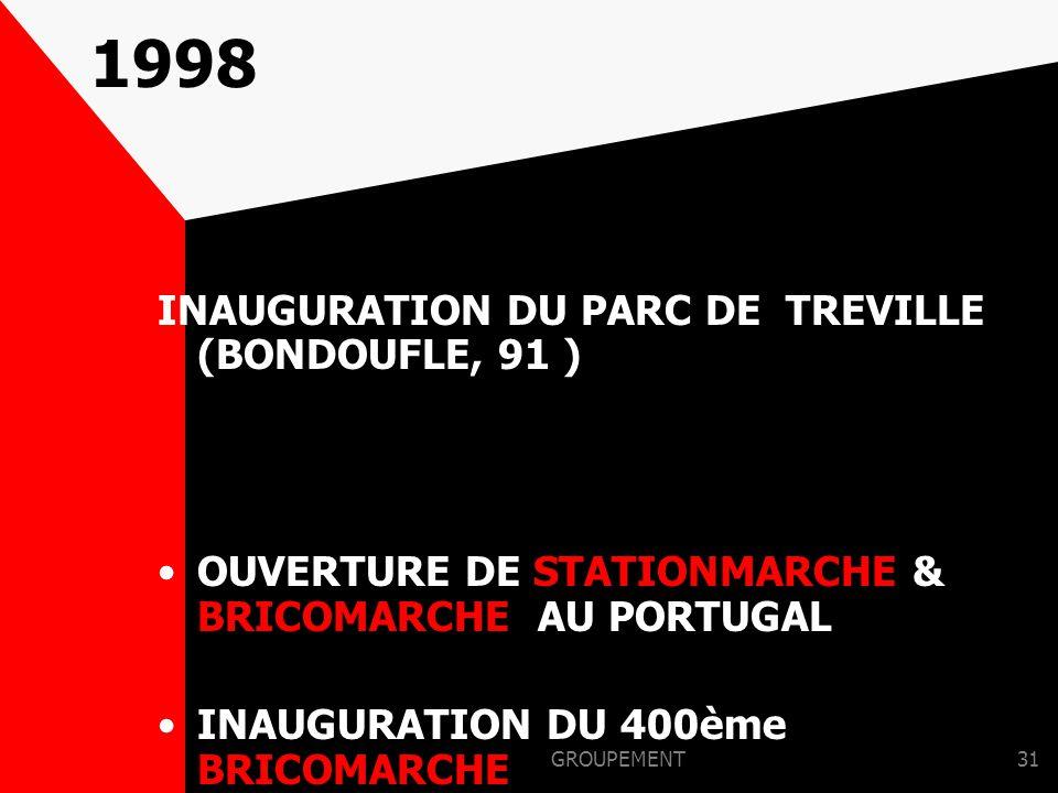 1998 INAUGURATION DU PARC DE TREVILLE (BONDOUFLE, 91 )