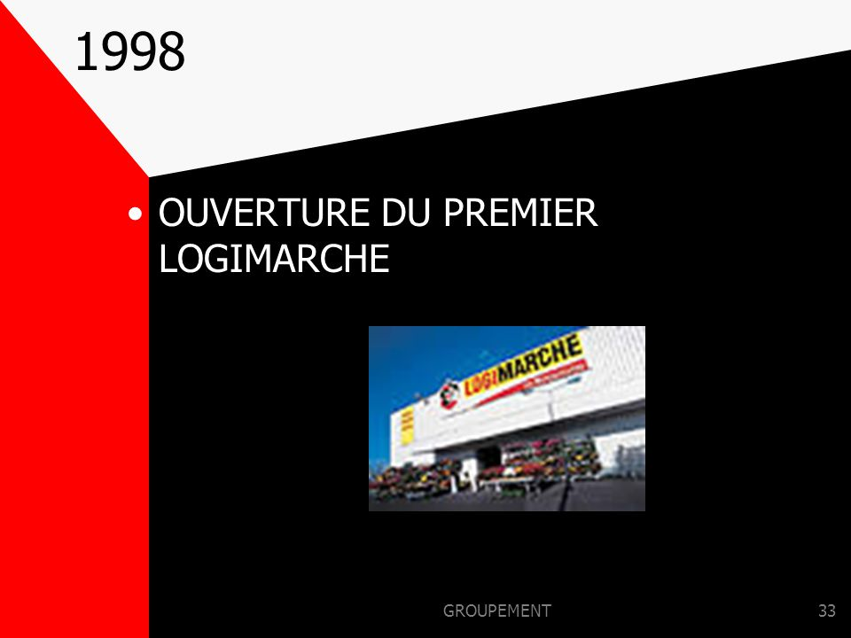 1998 OUVERTURE DU PREMIER LOGIMARCHE GROUPEMENT