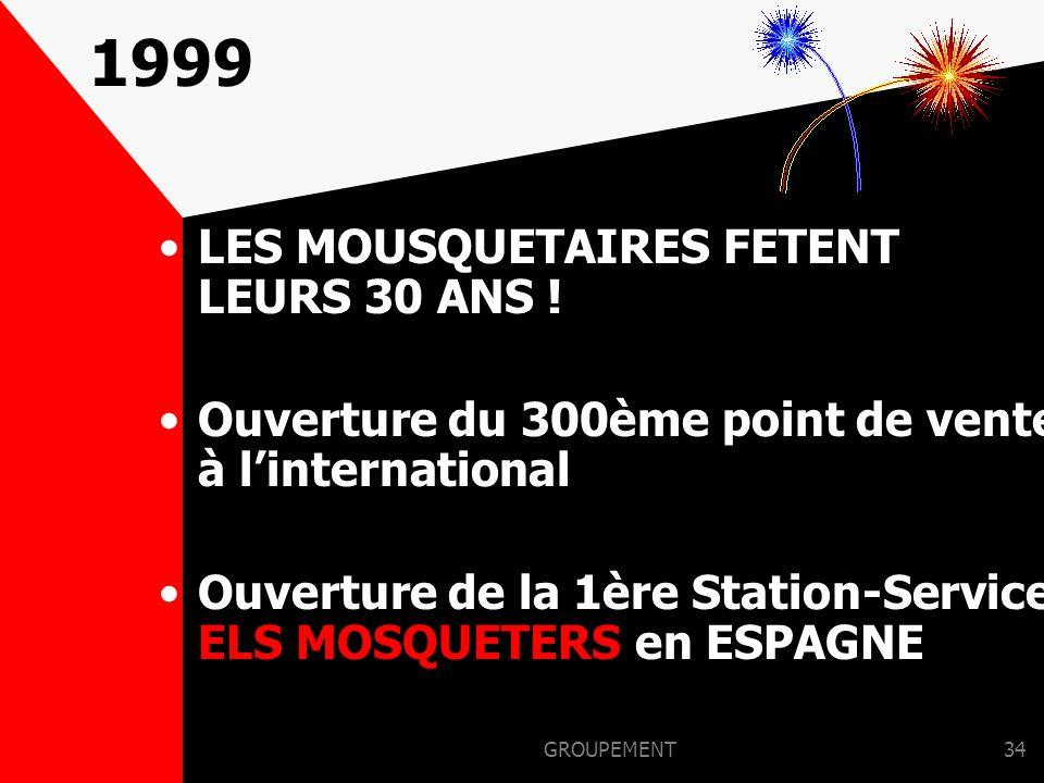 1999 LES MOUSQUETAIRES FETENT LEURS 30 ANS !