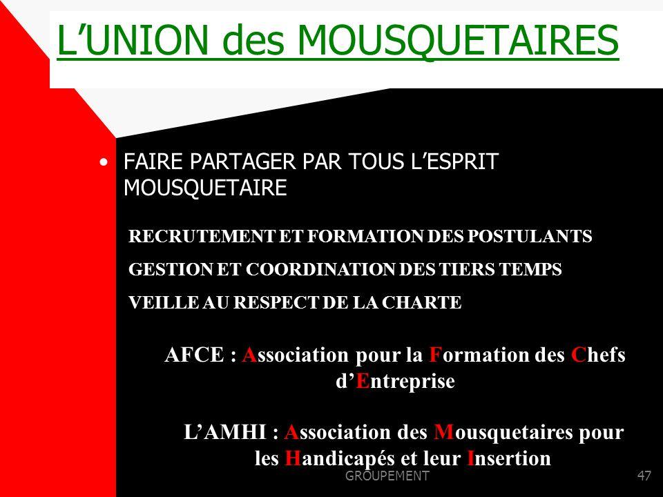 L'UNION des MOUSQUETAIRES