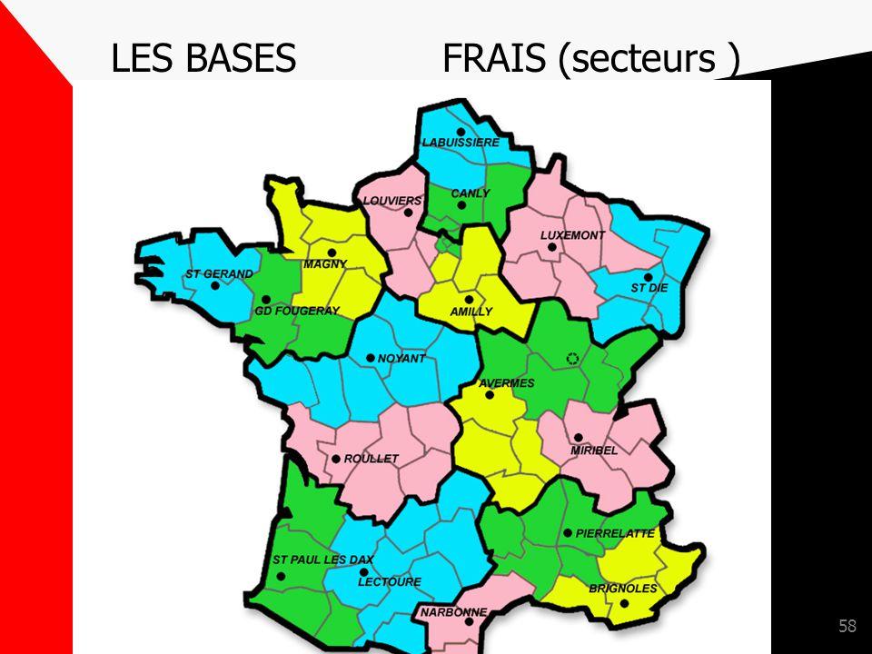 LES BASES FRAIS (secteurs )