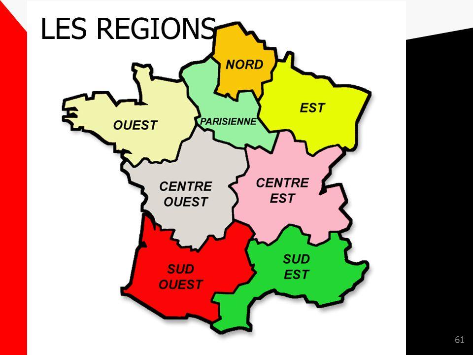 LES REGIONS GROUPEMENT