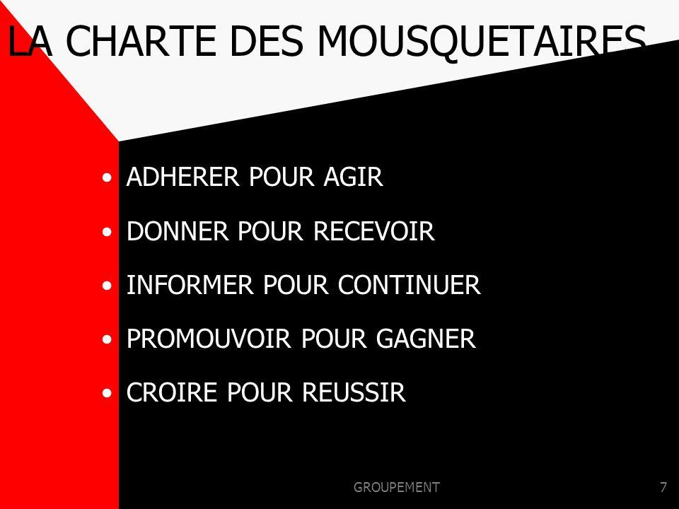 LA CHARTE DES MOUSQUETAIRES