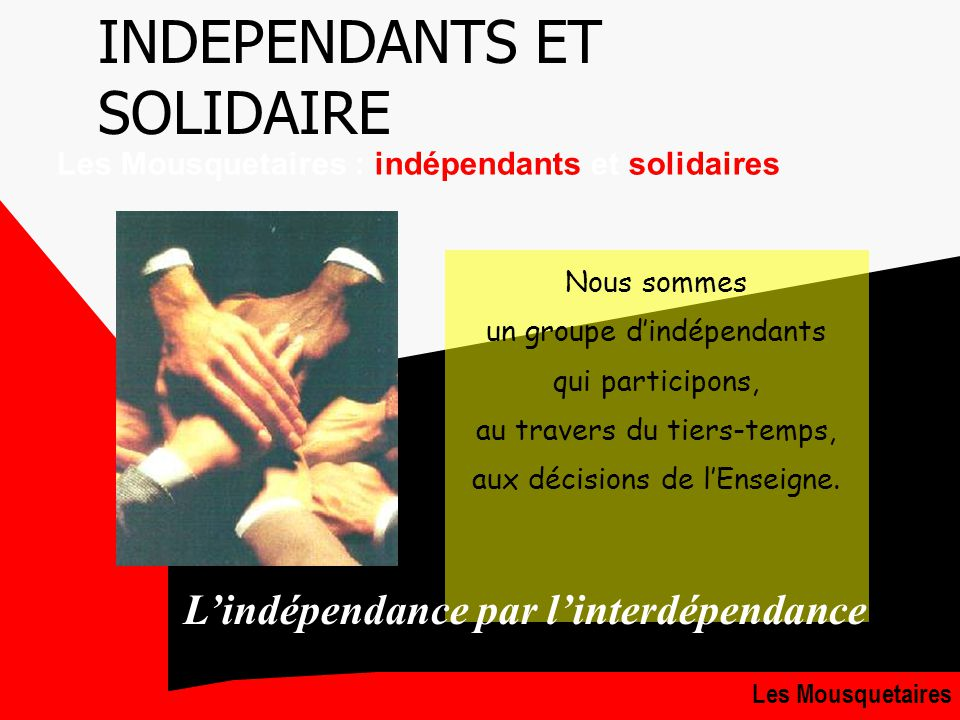 INDEPENDANTS ET SOLIDAIRE