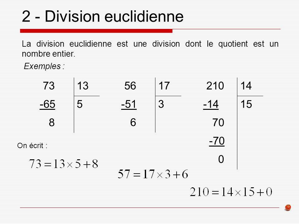 2 - Division euclidienne