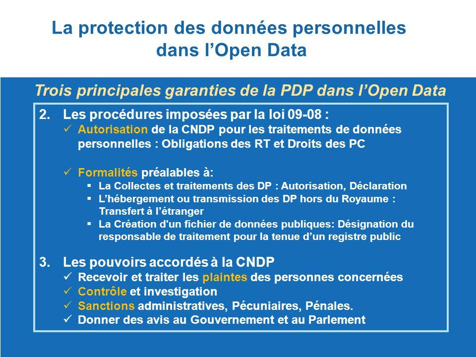 La protection des données personnelles dans l'Open Data