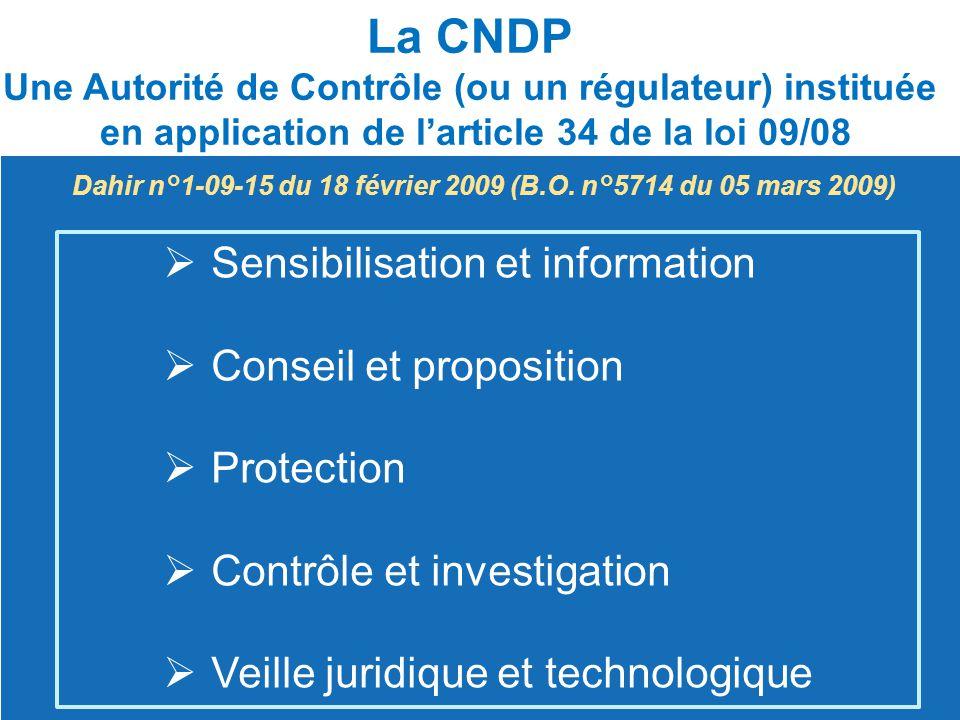 La CNDP Sensibilisation et information Conseil et proposition