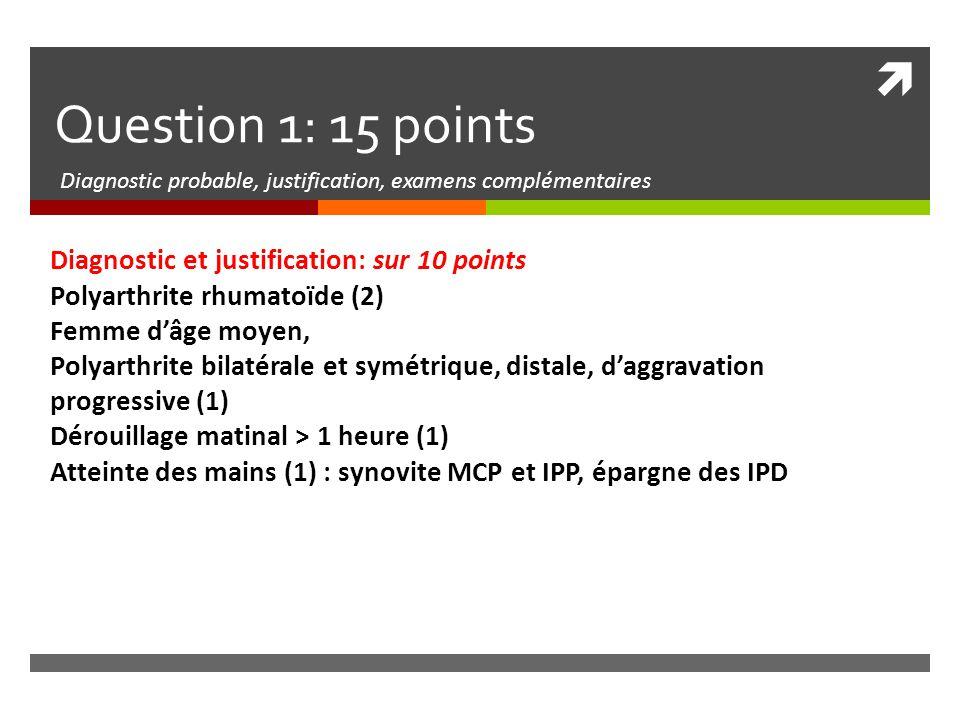 Diagnostic probable, justification, examens complémentaires