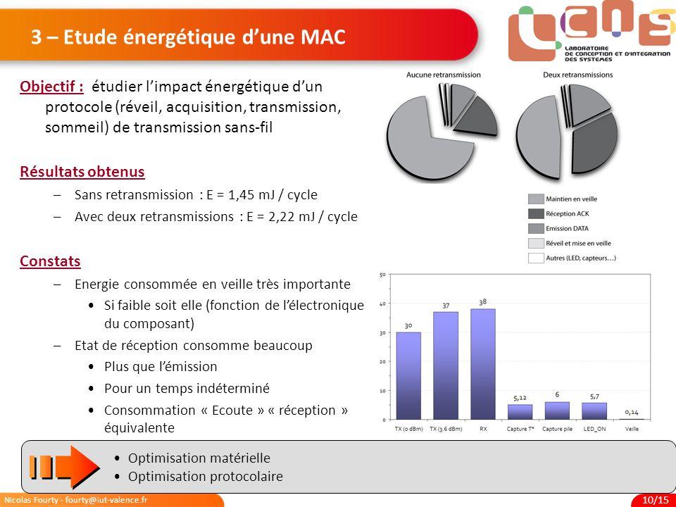 3 – Etude énergétique d'une MAC