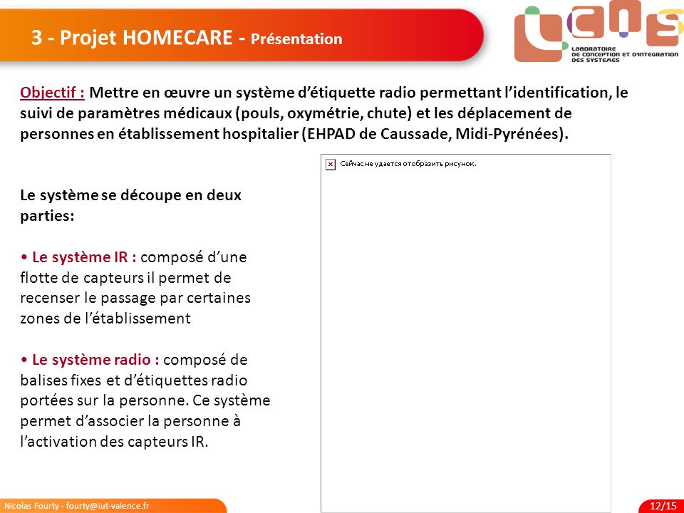 3 - Projet HOMECARE - Présentation