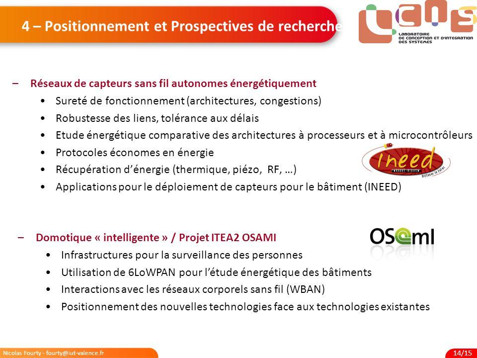 4 – Positionnement et Prospectives de recherche