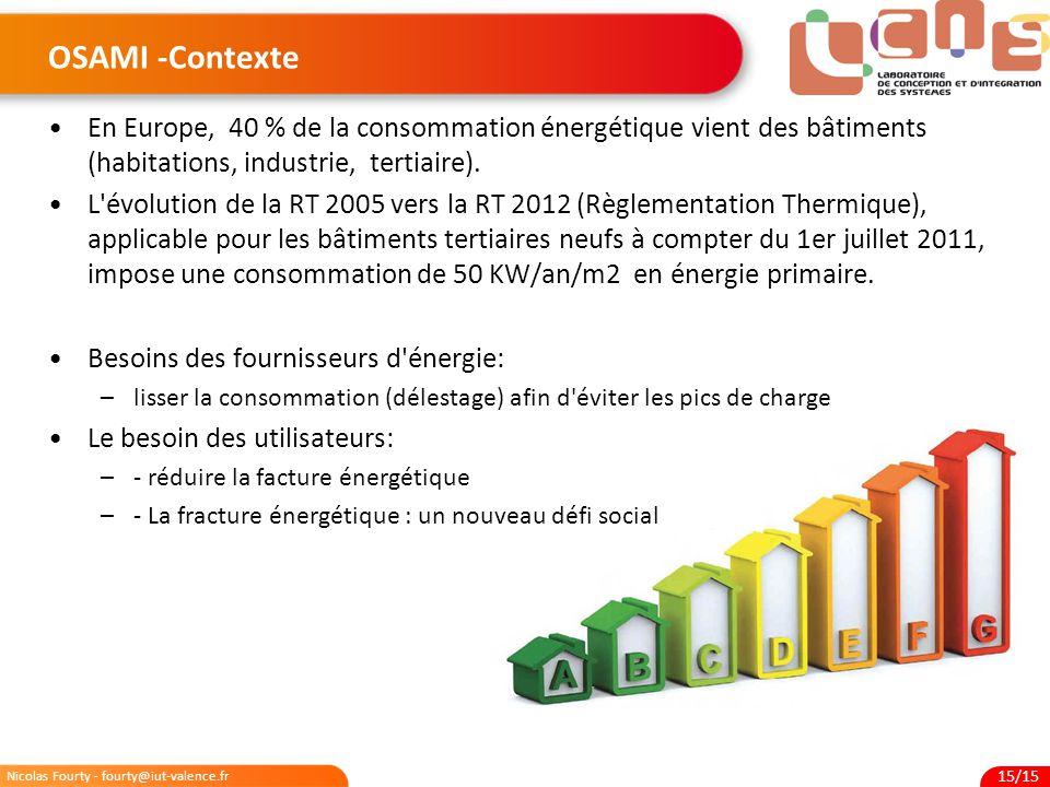 OSAMI -Contexte En Europe, 40 % de la consommation énergétique vient des bâtiments (habitations, industrie, tertiaire).