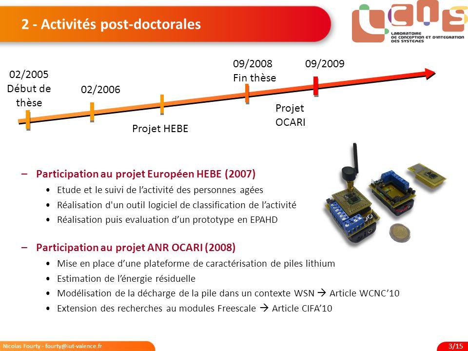 2 - Activités post-doctorales