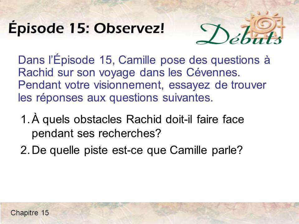 Épisode 15: Observez!
