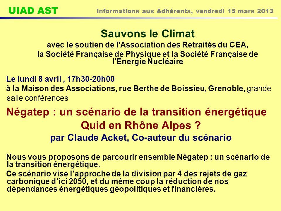 Sauvons le Climat Quid en Rhône Alpes