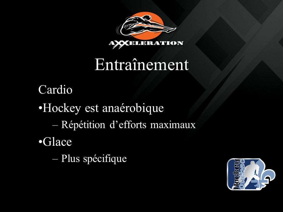 Entraînement Cardio Hockey est anaérobique Glace