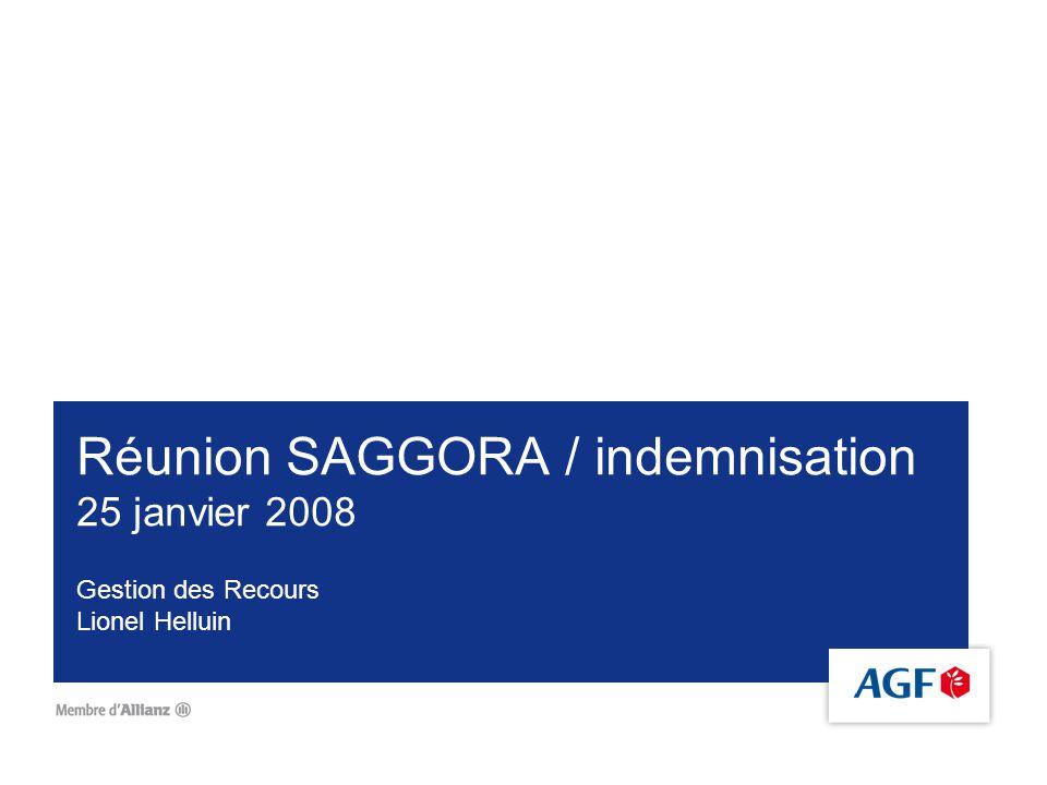 Réunion SAGGORA / indemnisation 25 janvier 2008