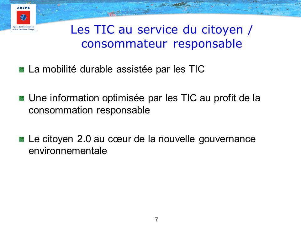 Les TIC au service du citoyen / consommateur responsable