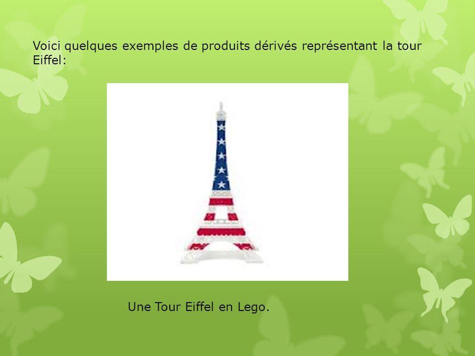 Voici quelques exemples de produits dérivés représentant la tour Eiffel:
