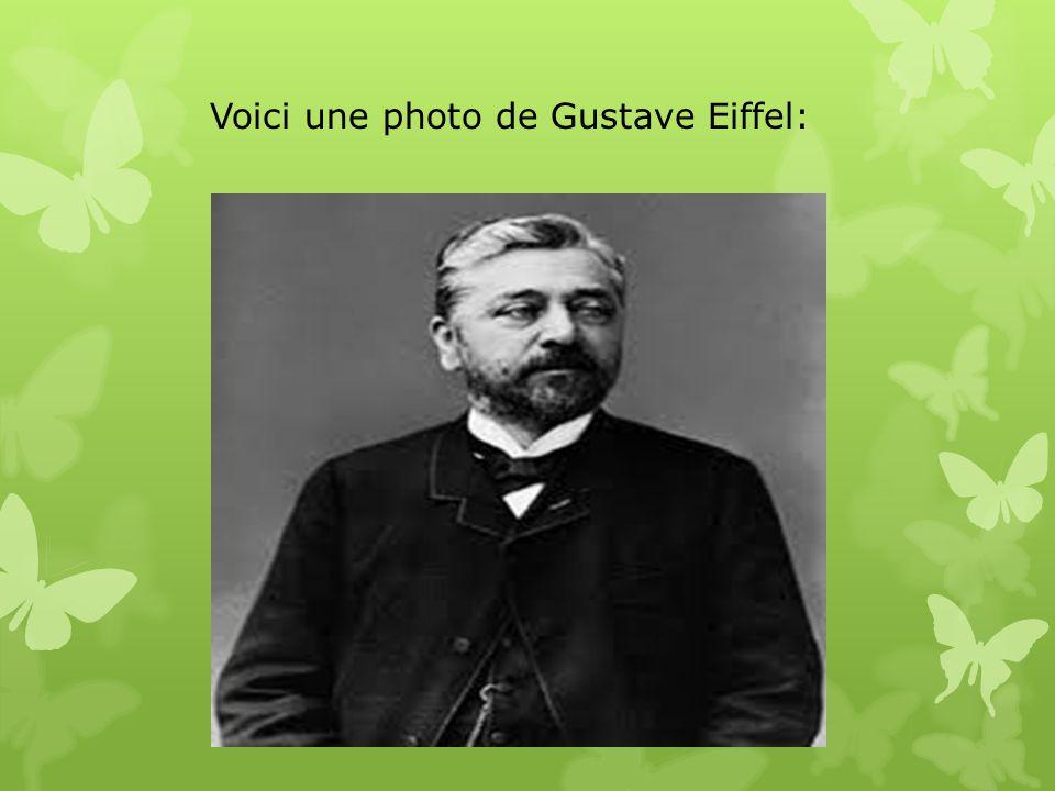 Voici une photo de Gustave Eiffel: