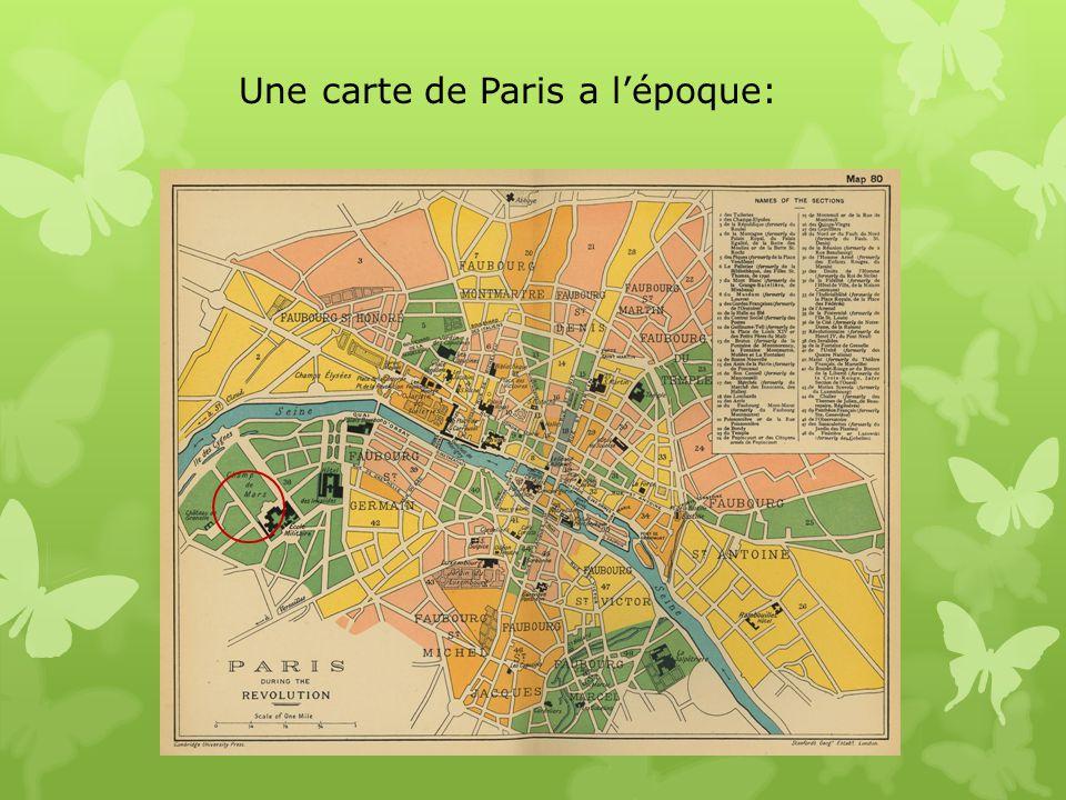 Une carte de Paris a l'époque: