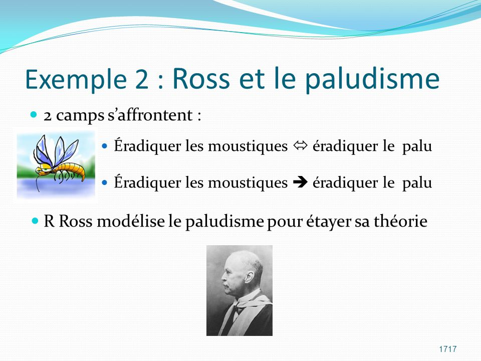 Exemple 2 : Ross et le paludisme